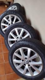 rodas 16 com pneu 75%