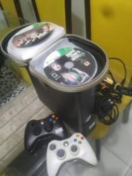 Xbox 360 Destravado com LTU + 2 Controles originais + Fonte Original 110v