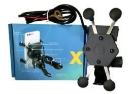 Suporte de Celular com Carregador para Motos Universal com regulagens R$49,99 cada