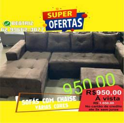 sofá com chaise vários modelos