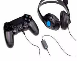 Fone Headset Gamer Microfone Xbox One Pc Playstation 4 Mobile Novo Garantia