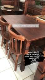 Mesas e cadeiras para montar seu restaurante pizzaria café enfim