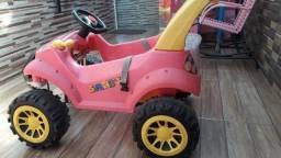 Carrinho smart Bandeirantes rosa pouco uso semi novo