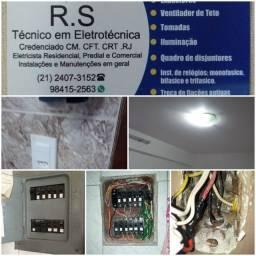 R.S.Tecnico eletricista residencial, predial e comercial. Credenciado cm crea.