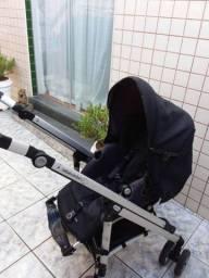 Carrinho de Bebê 3 em 1 ( Moisés,  bebê conforto do carro e carrinho de passeio)