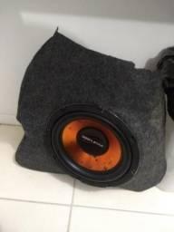 Caixa de som em fibra com alto falante 12