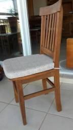 6 Cadeiras mineiras rústicas com assento