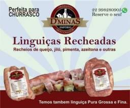 Linguiça artesanal mineira recheada