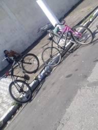 Bike aro 26 *(BIKE PRETA E ROSA)