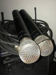 VENDO 2 microfones com 2 bases Microfone Sem Fio De Mão Jwl U585mm Uhf