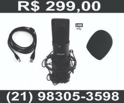 Microfone Usb Arcano Para Estúdio Am-black-01 Usb