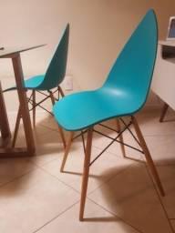 Cadeiras Pingo Azul Turquesa