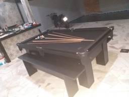 Mesa Charme Caçapa Redes Cor Preta Tecido Preto Mod. SSGX1457