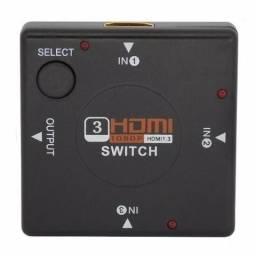 Chaveador Adaptador Hub Switch Hdmi 1.4 Com 3 Portas Full Hd