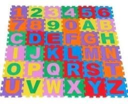 Tapete Eva Alfabeto E Números 36 Peças 28x28