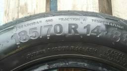 Par de pneus 185/70/14 Continental (leia)