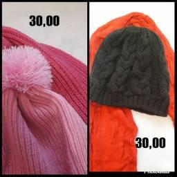 Cachecol e touca lã