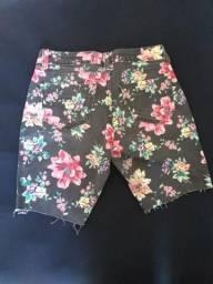 Short jeans florido Tam 40