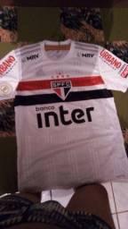 Camisa são Paulo usada jogador Luciano