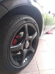 Jogo de rodas aro 15 pneus novos