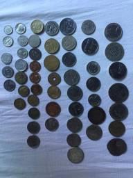 Coleção Moedas Antigas Numismática 76 peças IMPERDÍVEL