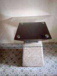 Mesa com suporte em mármore ( SEM AVARIAS)