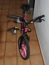 Bicicleta aro 16 infantil Rosa (da Barbie)
