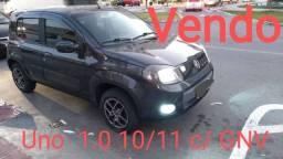 Uno 1.0 10/11 c/ GNV - R$ 8.000,00 + 36x