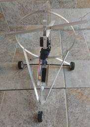 Paraglider completo com velame de 1,80m