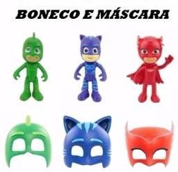 Boneco com Mascara Pj Masks Heróis De Pijama