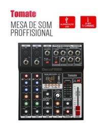 Mesa De Som Bluetooth Usb Mixer Mp3 Player Digital 7 Canais - NOVA