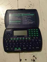 Agenda eletrônica e calculadora Sharp