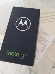Moto G30 128GB Tela 6.5 Taxa 90Hz 4 Câmeras 64MP Novo na Caixa Nota Fiscal