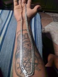 Cordão de prata escama dupla pra vender 350