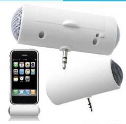 Mini alto-falante Estéreo portátil 3,5mm(P2) para celulares e Tablets