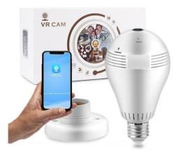 Câmera lâmpada para monitoramento interno panorâmico wifi