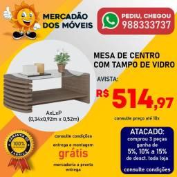 Mesa De Centro Com Tampo De Vidro Super Barata!!!