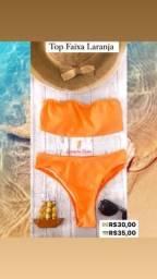 Biquíni top faixa laranja