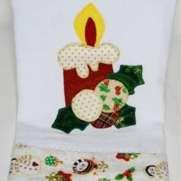 Pano de Copa Natal 75 x 50 cm - 100% algodão
