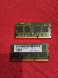 Memoria ram 8gb 2 pentes de 4gb