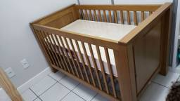 Berço/mini cama madeira - TulipaBaby - mod. Larissa - cor Mel