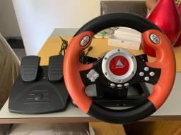 Volante e pedal de acelerador PS2/PC