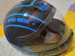 Capacete Peels Azul Neon