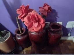 Trio de vasos decorativos- retirar no Menino Deus