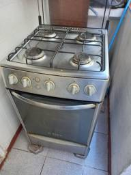 Fogão inox bosch grill + forno. Funciona tudo, *