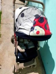 Carrinho+bebê conforto+banheira