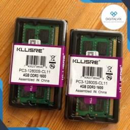 Notebook Kllisre-4GB-DDR3/DDR3L-1600Mhz/(Garantia 1 ano) *Desconto 2 unidades ou mais!*
