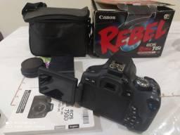 Câmera Canon rebel T6i Muito Nova Usado Muito Muito Pouco