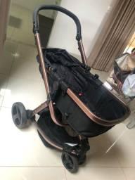 Carrinho + bebê conforto + base engate rápido