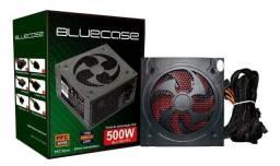 Fonte de alimentação para PC Bluecase BLU 500-E 500W preta 115V/230V - Loja Natan Abreu
